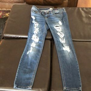 Sneak peek distressed boyfriend skinny jean